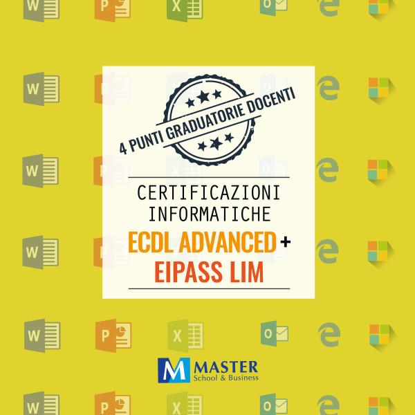 Certificazioni Informatiche ECDL ADVANCED e EIPASS LIM
