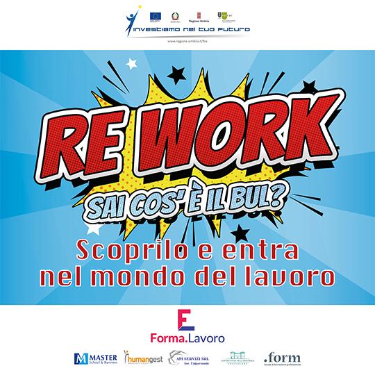 ReWork: richiedi il tuo Buono Umbro per il Lavoro (BUL) per inserirti nel mondo del lavoro.